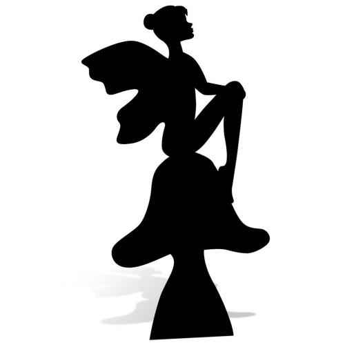 Fairy Silhouette Cardboard Cutout