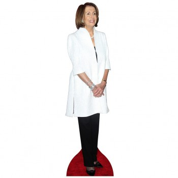 Speaker Nancy Pelosi White Coat Cardboard Cutout - $44.95
