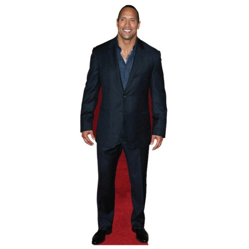 Dwayne Johnson Dark Suit Cardboard Cutout