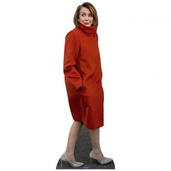 Nancy Pelosi Red Coat Cardboard Cutout