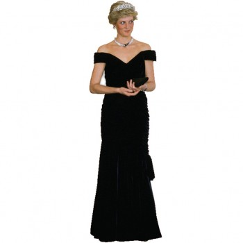 Princess Diana Black Gown Cardboard Cutout - $44.95