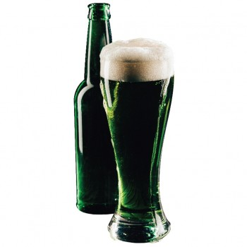 Green Pint & Bottle Cardboard Cutout
