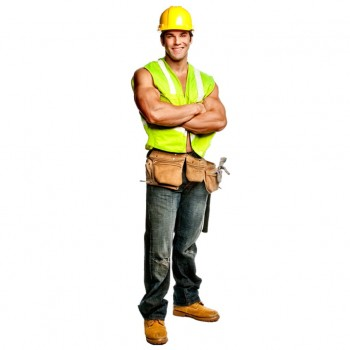 Chippendale Construction Worker Cardboard Cutout