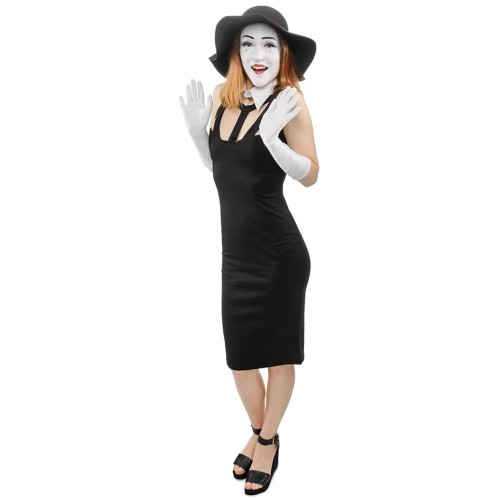 Female Mime Cardboard Cutout