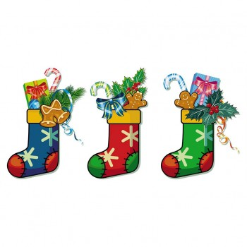 Christmas Stocking 3pcs Cardboard Cutout - $44.95