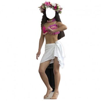 Hula Dancer Female Chilld Stand In Cardboard Cutout - $44.95