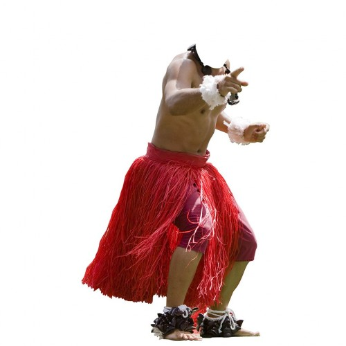 Hula Dancer Male Cardboard Cutout