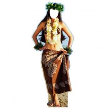 Hula Dancer Female Cardboard Cutout