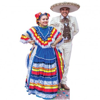 Mariachi Dancing Couple Cardboard Cutout - $44.95