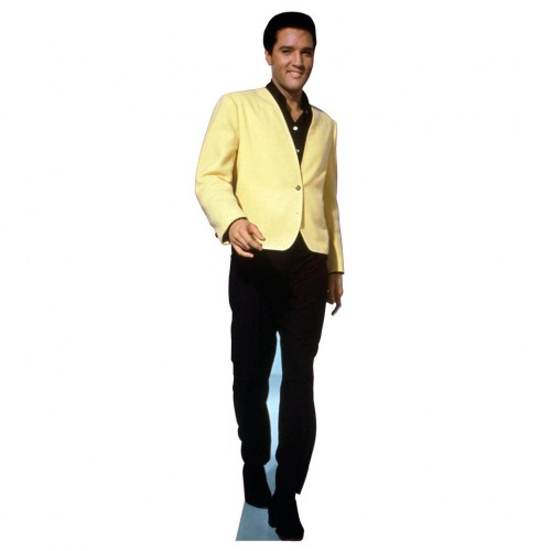 Elvis Yellow Coat Cardboard Cutout