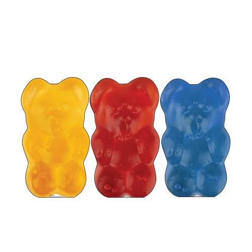 Gummy Bears (3 pack. Orange, Red and Blue)