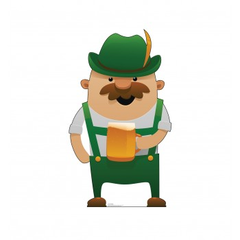 Irish Man Drinking Animated