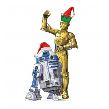 R2-D2 and C3PO Holiday Outdoor Standee