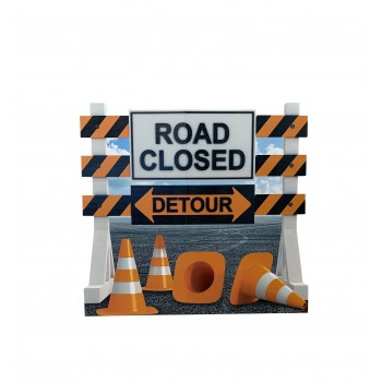 Road Closed Detour Sign - $39.95