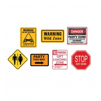 Party Construction Signs - $39.95