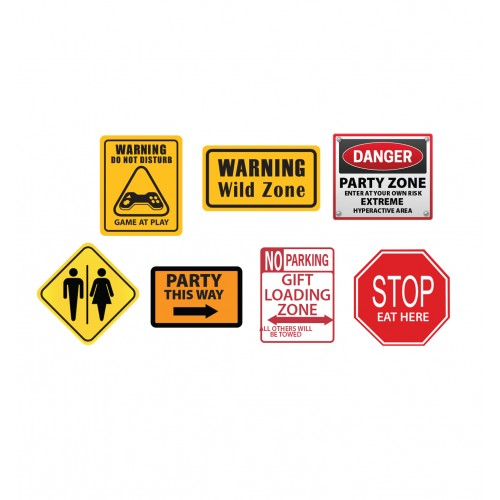 Party Construction Signs