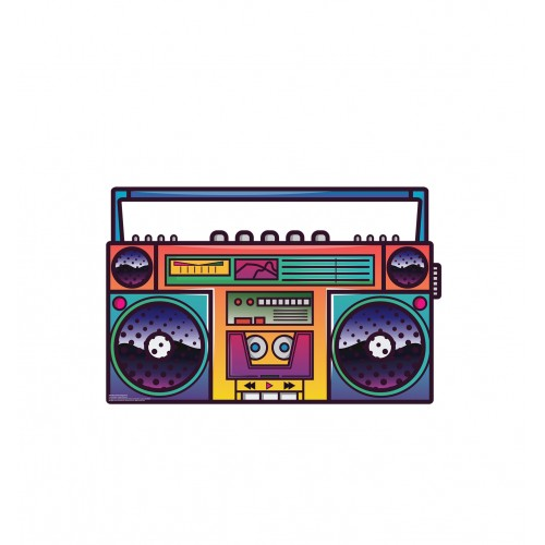 Illustrated Portable Stereo