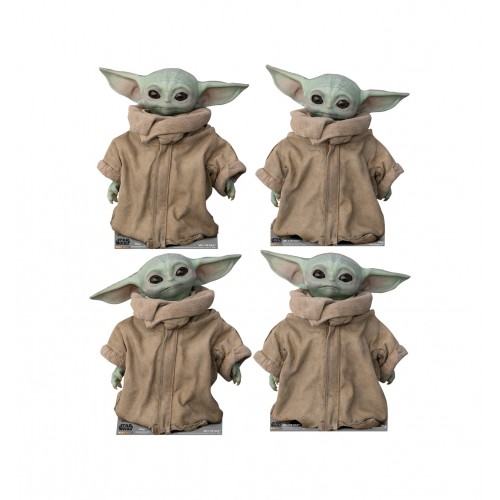 The Child (The Mandalorian Disney/Lucas Films) Set of 4