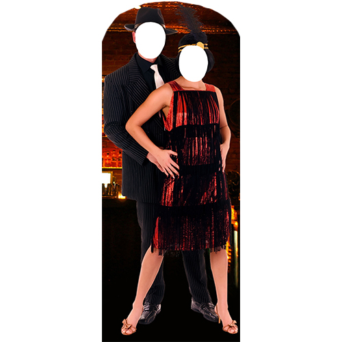 Roaring 20s Couple Stand In Cardboard Cutout
