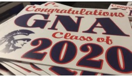 Congratulations GNA class of 2020 Graduation Yard Signs