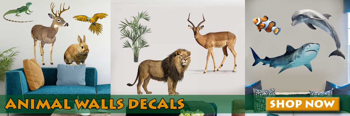 View all animal wall decal categories