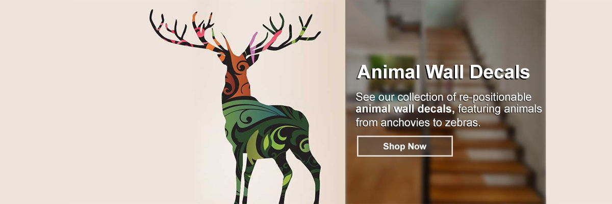 Artistic Animal Wall Decals
