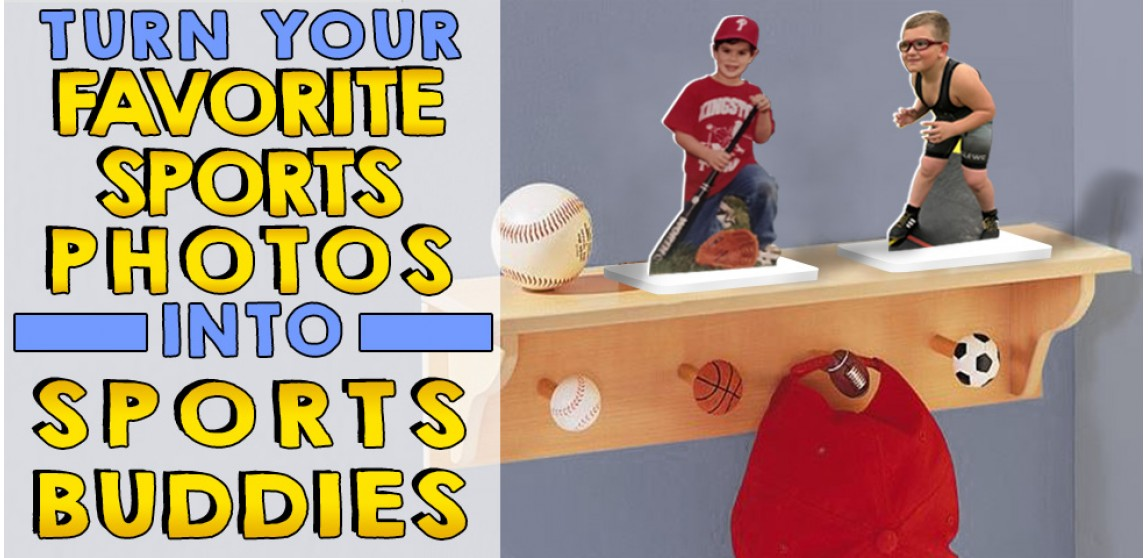 Favorite photos made into sports buddies acrylic statues