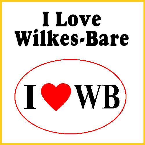I Love Wilkess-Barre Bumper Sticker