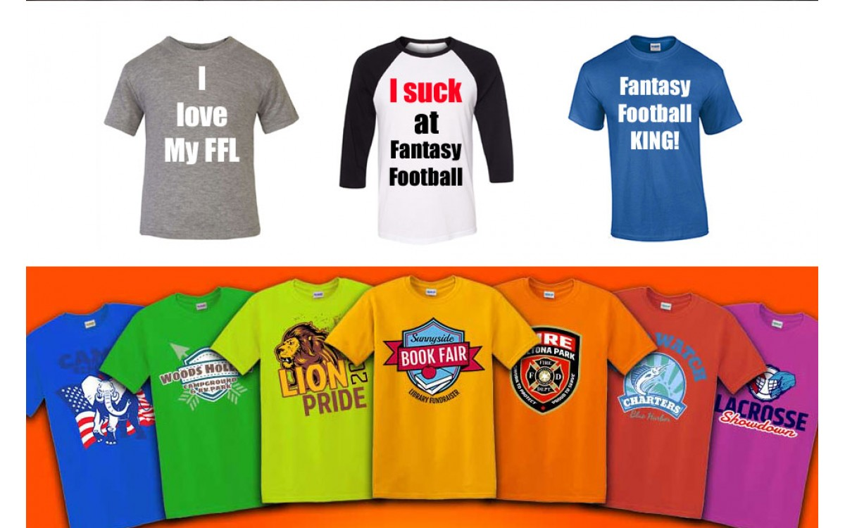 Fantasy Football League Shirts for football seasons the next day.
