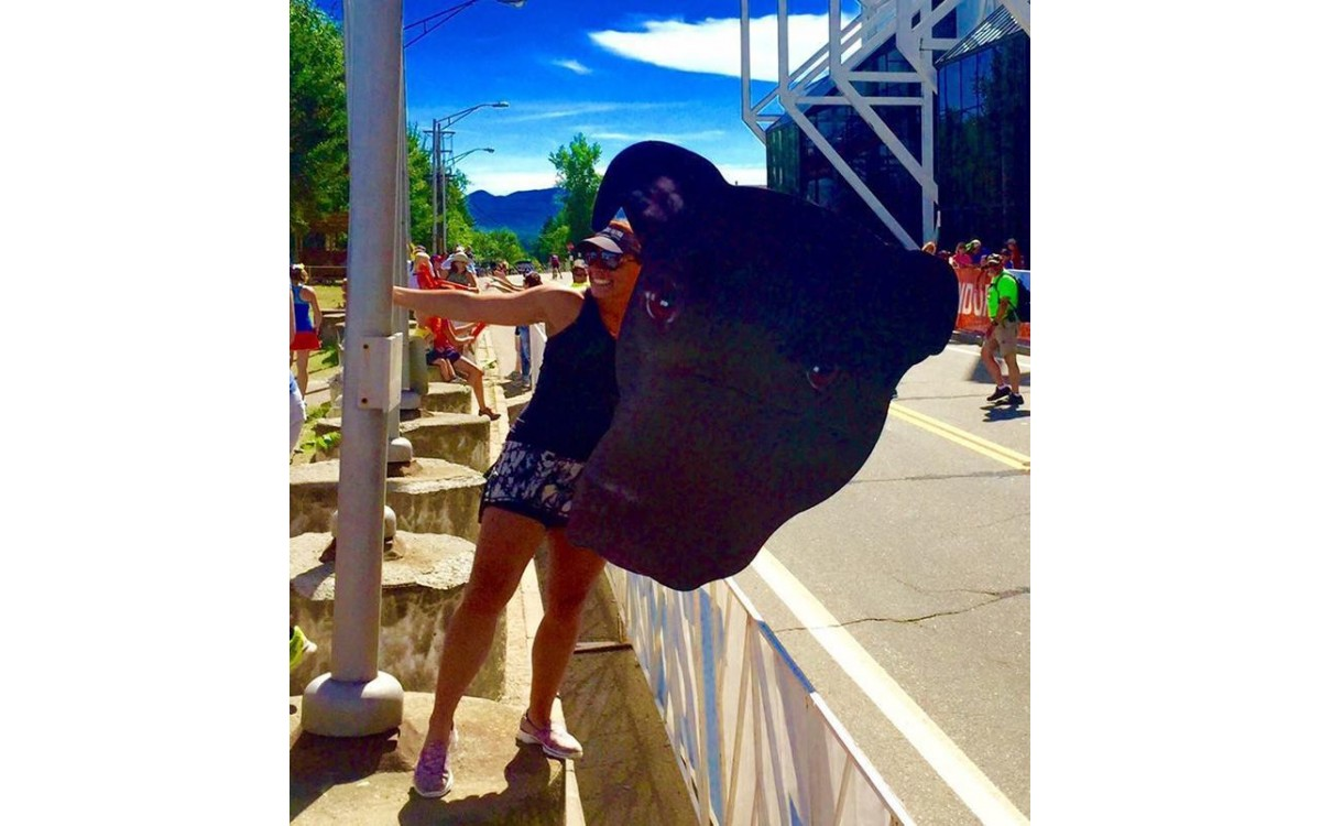 Fan gear at Lake Placid Ironman