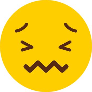 Frieghtened Face Emoji
