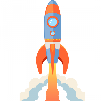 Rocket Ship Cartoon - $0.00