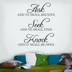 Ask Seek Knock Wall Decal