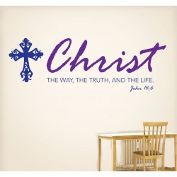 Christ The Way The Truth The Life Wall Decal