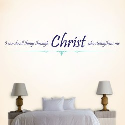 Christ Strengthens Me Wall Decal