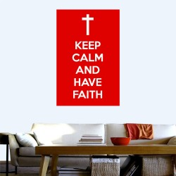 Keep Calm Faith Wall Decal