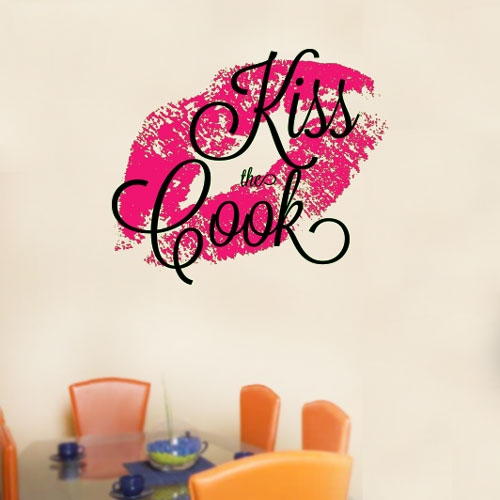 View Product Kiss The Cook Wall Decal