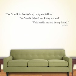 Dont Walk In Wall Decal