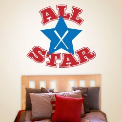 All Star Wall Decal