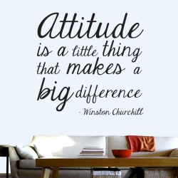 Attitude Makes A Big Difference Wall Decal