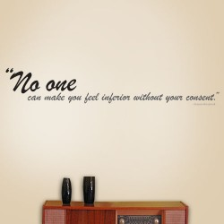 No One Can Make You Feel Wall Decal
