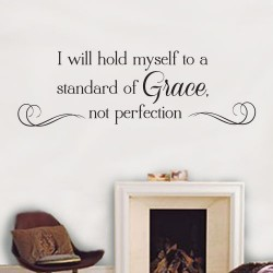 I Hold Myself With Grace Wall Decal