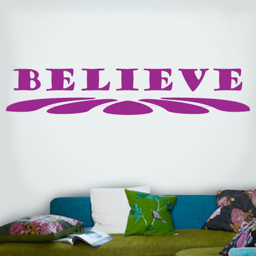 View Product Believe Wall Decal