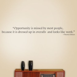 Opportunity Is Missed Wall Decal