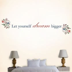 Let Yourself Dream Bigger Wall Decal