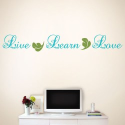 Live Learn Love Wall Decal
