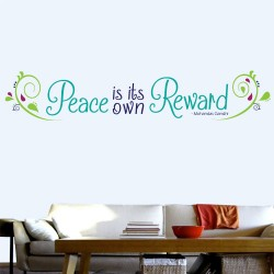Peace Is Reward Wall Decal