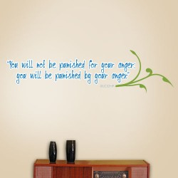 Punished By Anger Wall Decal