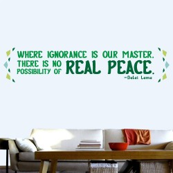 Real Peace Wall Decal