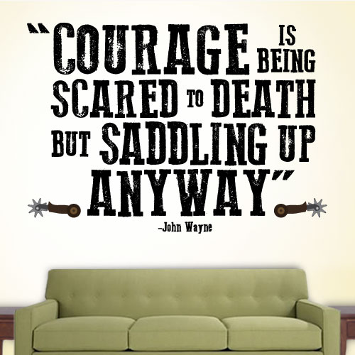 View Product Courage Saddle Up Wall Decal